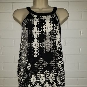 Forever 21 black and cream tank top size 2x NWT